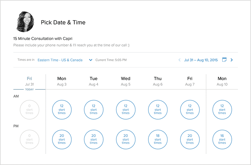 Calendly Tool to plan meetings for salesteams and growth hackers