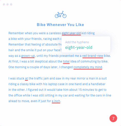 Grammarly image of the tool