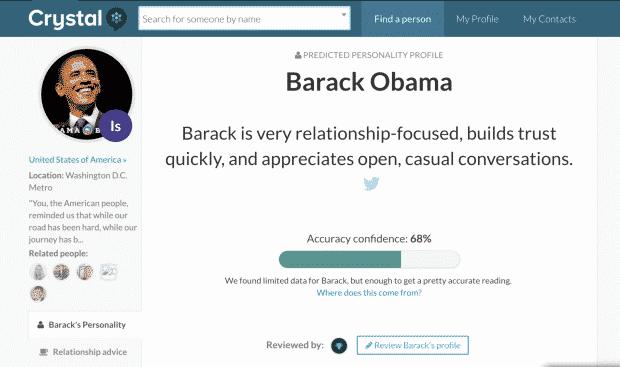 CrystalKnows tool voor spioneren op linkedin persoonlijkheid