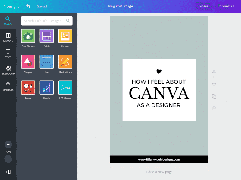 Canva designtool for growth marketeers