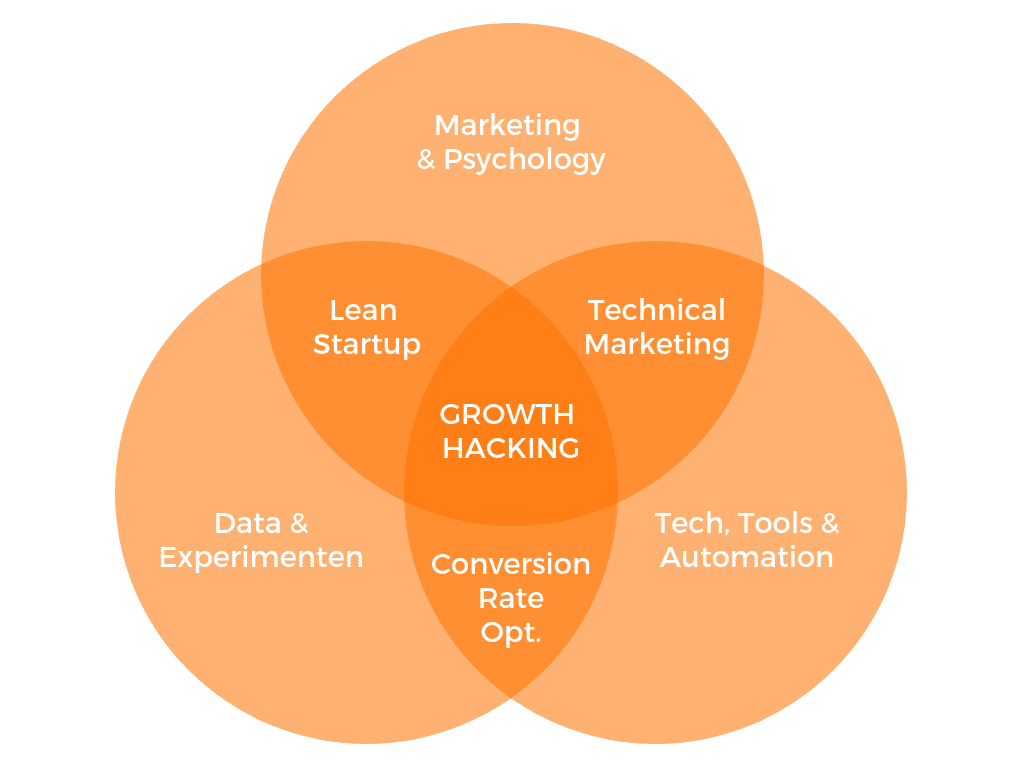 Wat is Growth Hacking? Venn-diagram