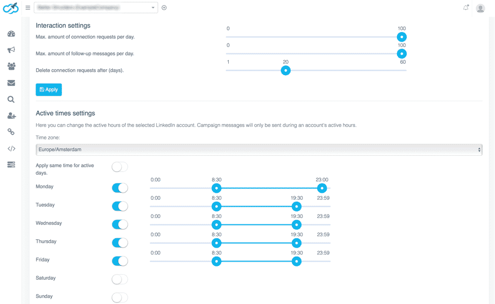 Expandi growth Hacking tool screenshot
