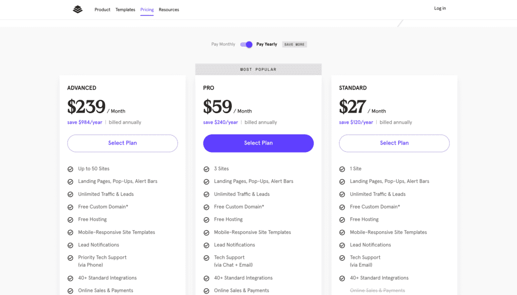 Pricing Plans Leadpages 2021